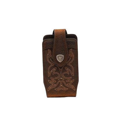Embroidered Western Leather Phone Case