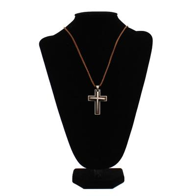 Men's Rope Double Cross Necklace