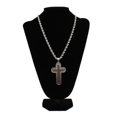Men's Gold & Silver Cross Necklace