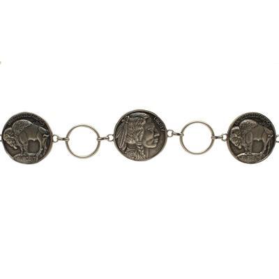 Ladies Buffalo Nickel Chain Belt