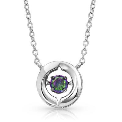 Montana Silversmiths Mystic Topaz Dancing Yin Yang Necklace