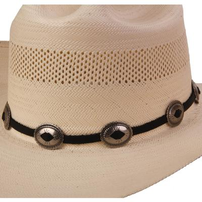 Austin Accent's Leather Hat Band with Conchos BLK