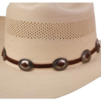 Austin Accent's Leather Hat Band with Conchos BRN
