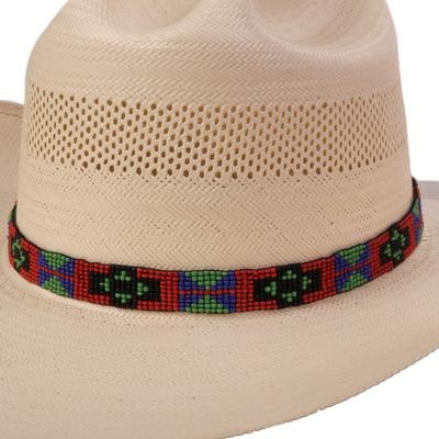 Austin Accent's 9 Row Beaded Red Hat Band