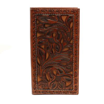 Nocona Floral Pierced Rodeo Wallet