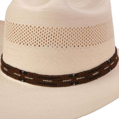 Austin Accent's Elastic Brown Beaded Hat Band