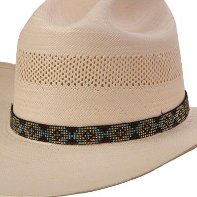 Austin Accent's Elastic Multicolored Beaded Hat Band