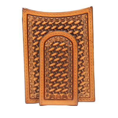 Nocona Basket Weave Money Clip Wallet
