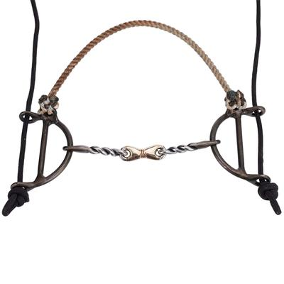 Dutton Twisted Snaffle Gag Draw & Rope Nose Gag Bit