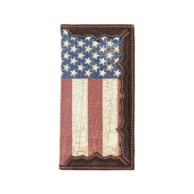 Distressed USA Flag Rodeo Wallet