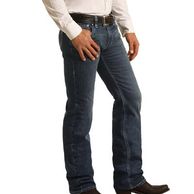 Rock & Roll Men's Pistol Straight Dark Wash Vintage Jeans