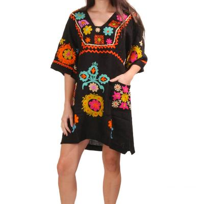 Uncle Frank Women's Crewel Embroidered Dress