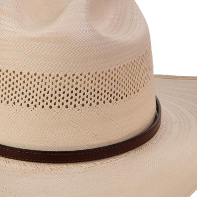 Austin Accent's 3/8 Leather Hat Band BRN