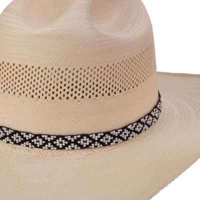 Austin Accent's Black And White Beaded Hat Band