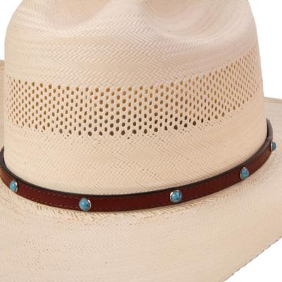 Austin Accent's Leather Studded Hat Band