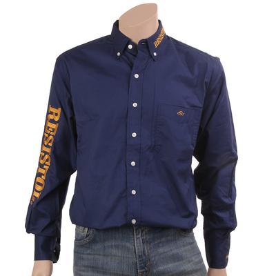 Resistol Men's Navy Marketing Button Shirt