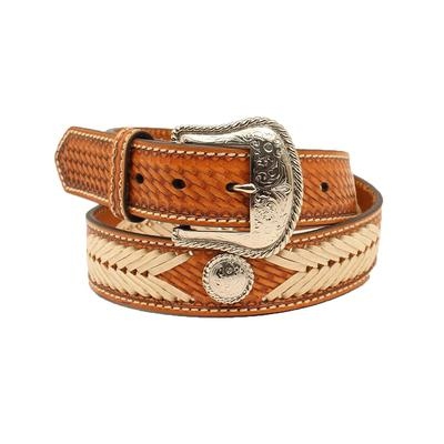 Nocona Men's Arrow Weave Leather Belt