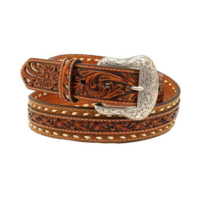 Nocona Men's Floral Ivory Laced Belt