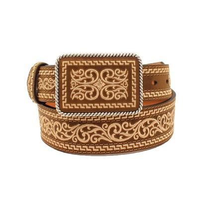Nocona Embroidered Belt & Buckle Set