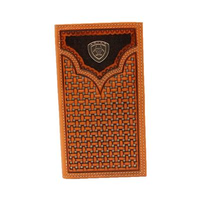 Ariat Men's Basket Weave Bifold Wallet