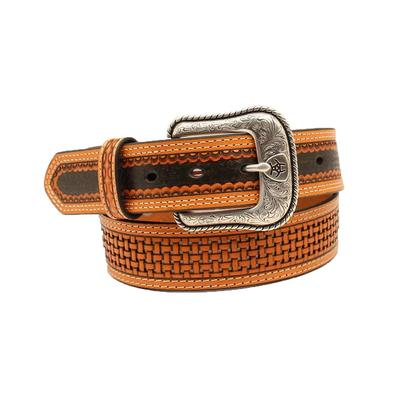 Ariat Men's Basket Weave & Brown Belt