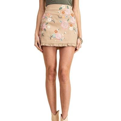 Kori Women's Embroidered Mini Skirt