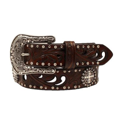 Ariat Ladies Embossed Cutout Rhinestone Belt