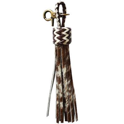 American Darling Hair On Tassel Brown Keychain