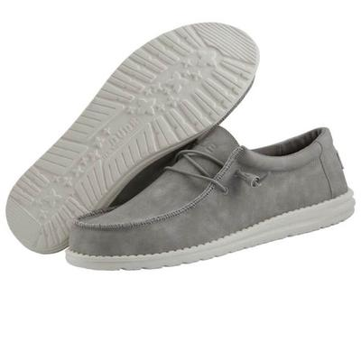 Hey Dude Men's Grey Wally Recycled Leather