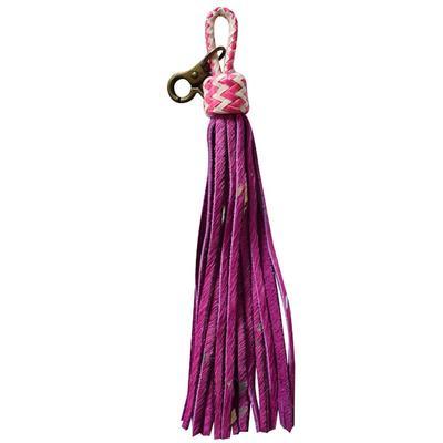 American Darling Pink Hide Tassel Keychain