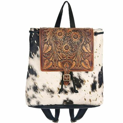 American Darling Tooled Leather Hair On Backpack