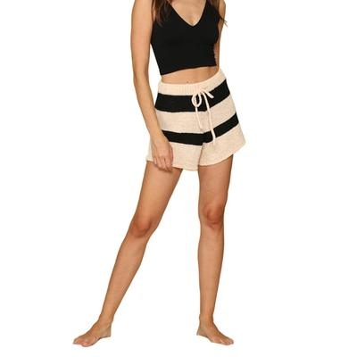 Women's Striped Knit Draw String Shorts