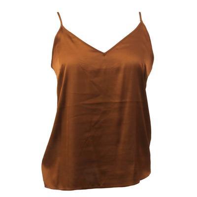 Women's Sleeveless Satin Tank Top