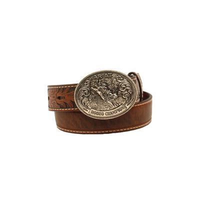 Ariat Boy's Bucking Bull Leather Belt