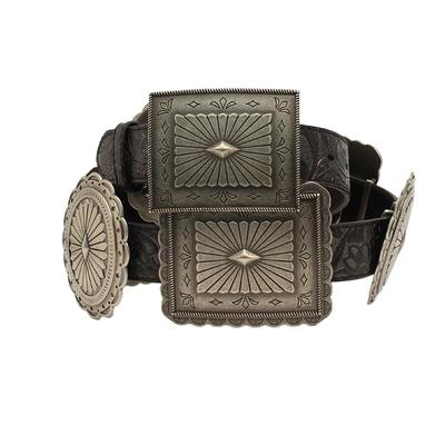 Ariat Ladies Embossed Oval & Rectangle Concho Belt