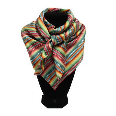 Multi Colored Silk Wild Rag