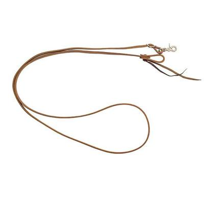 Partrade 5/8 X 8 Harness Leather Roping Reins With Water Loop