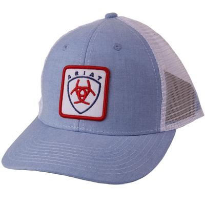 Ariat Men's Light Blue Snap Back Cap