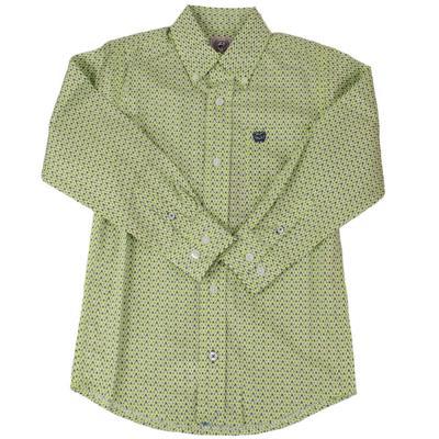 Cinch Boy's Lime Green Button Down Shirt