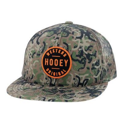 Hooey Youth Camo Orange Patch Cap