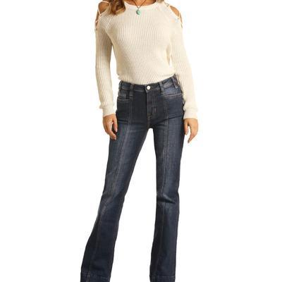 Rock&Roll Women's Seamed High Rise Trouser Jeans