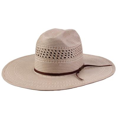 American Hat Co. Men's 4 1/4 Brim 2CHOC Straw Hat