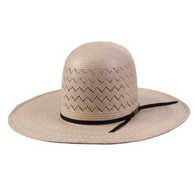 American Hat Co. Men's 4 1/4 Brim 2Black Straw Hat