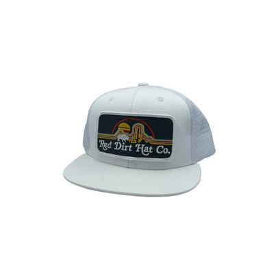 Red Dirt Hat Co.'s Youth White Neon Buffalo Cap