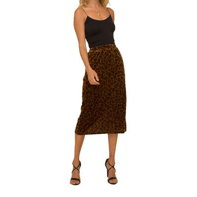 Women's Leopard Stretch Corduroy Pencil Skirt
