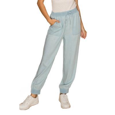 Women's Light Blue Tencel Pants