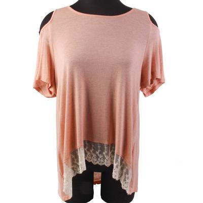 Kori Women's Lace Detail Cold Shoulder Top