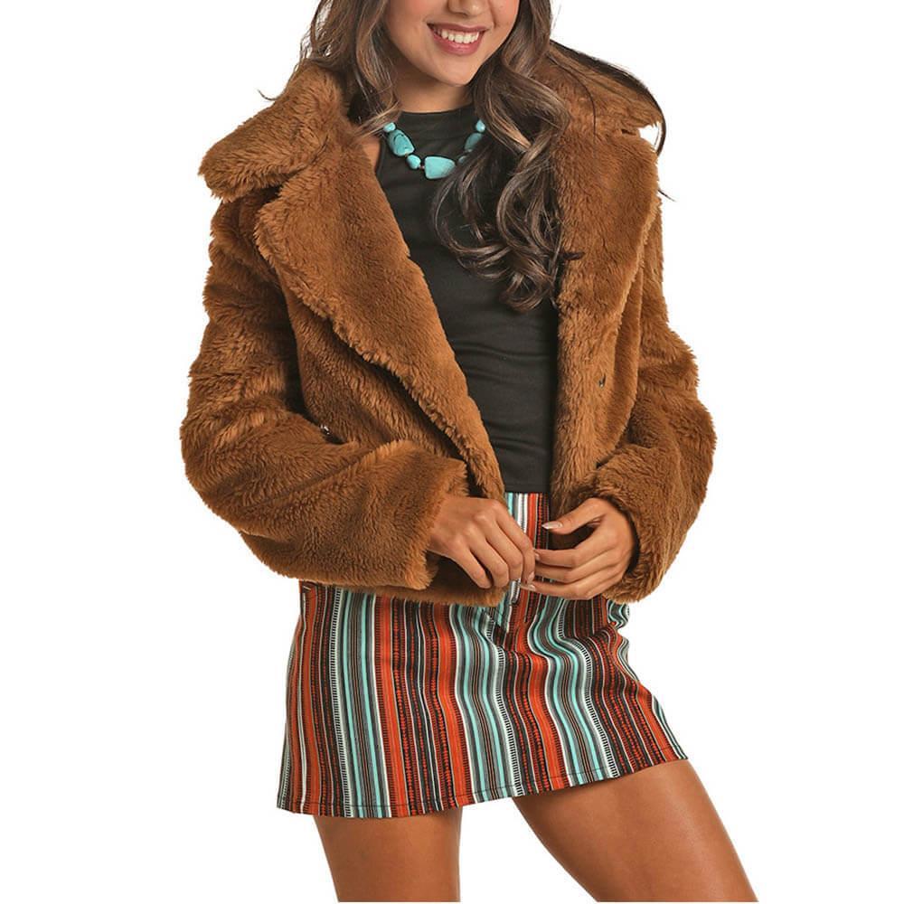 Rock&Roll Women's Faux Fur Jacket
