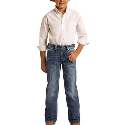 Rock&Roll Boy's Medium Vintage Bootcut Jeans