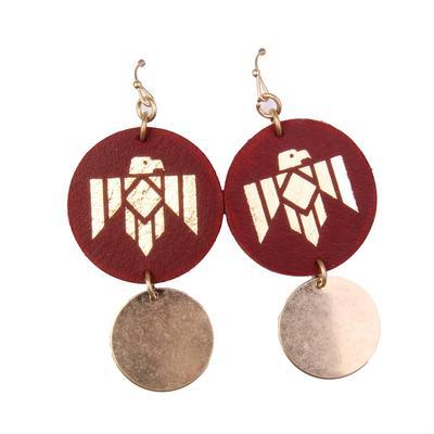 Pink Panache Thunderbird Circle Earrings